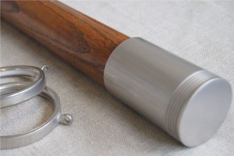 American Walnut pole – Evian finial for 50mm dia pole